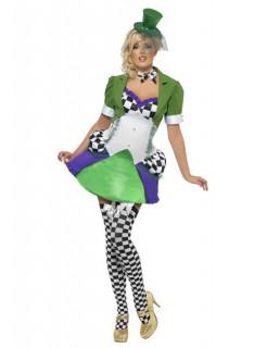 Miss Hatter Kostüm bunt