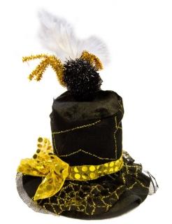 Mini Zylinder Spinne schwarz-gold