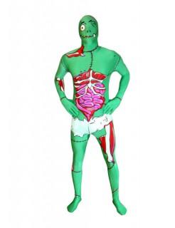 Lustiger Monster-Morphsuit Halloween-Monsterkostüm grün-rot