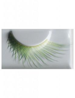 Wimpern gekreuzt grün