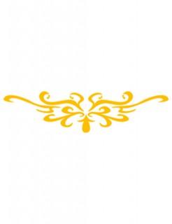 Selbstklebe Schnörkel-Schablone Make-Up Zubehör gelb