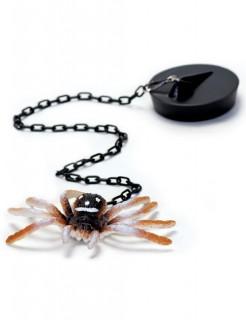 Badestöpsel mit Spinne Scherzartikel schwarz-braun-weiss 8cm