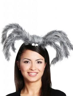 Halloween Spinnen Haarreif grau