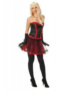 Petticoat Unterrock mit Punkten schwarz-rot