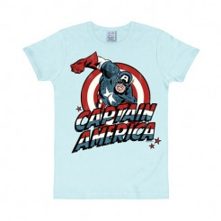 Captain America-T-Shirt Marvel™ Lizenzware Slim Fit hellblau-bunt
