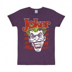 DC Comics Batman T-Shirt Joker Slim Fit Lizenzware lila-bunt