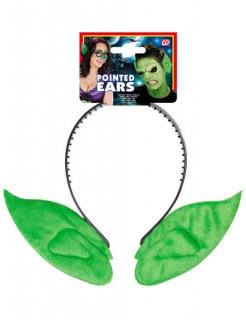 Haarreif Goblin-Ohren grün Erwachsene