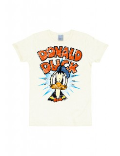 Disney T-Shirt Donald Duck Fanshirt Slim Fit weiss-bunt