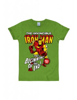 Marvel T-Shirt Iron Man Slim Fit Fanshirt grün-bunt