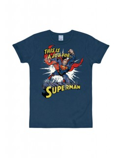 Superman This Is A Job Slim Fit navy