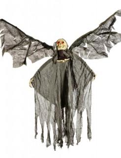 Todesengel Skelett Halloween-Deko schwarz-weiss 120cm