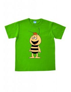 Biene Maja T-Shirt Willi Easy Fit Cartoon-Shirt grün-gelb-schwarz