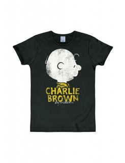 Peanuts T-Shirt Charlie Brown Slim Fit Fanshirt schwarz-grau-gelb