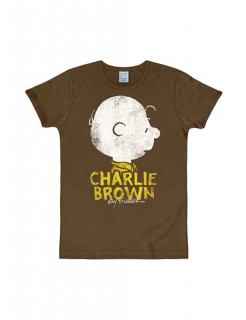 Peanuts T-Shirt Charlie Brown Slim Fit Fanshirt braun-grau-gelb