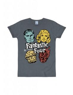 Marvel The Fantastic Four T-Shirt Slimfit blau