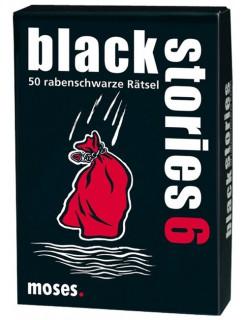 Black Stories 6 50 rabenschwarze Rätsel Kartenspiel schwarz-weiss-rot 9x13cm