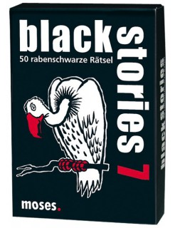 Black Stories 7 - 50 morbide Ratespiele schwarz-weiss-rot 9x13cm