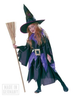 Hexe Zauberin Magierin Halloween-Kinderkostüm lila-schwarz