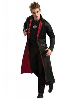 Vampir Mantel Herrenkostüm Gothic schwarz-rot