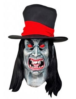 Halloween Vampir-Riesenmaske weiss-rot-schwarz