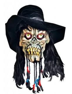 Riesen-Skelettmaske für Halloween bunt
