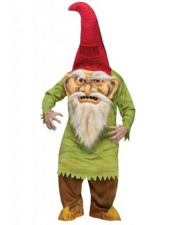Horror Zwerg Märchen Halloween Kostüm grün-rot