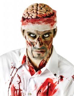 Blutiges Gehirn Kopfbedeckung beige-rot