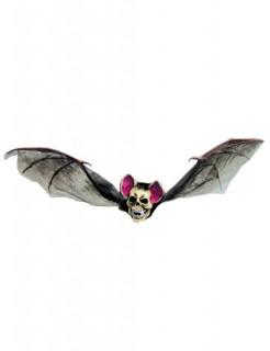 Skelett Fledermaus Halloween Deko braun-weiss 83x33cm