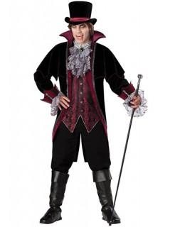 Viktorianischer Vampir Grafen-Kostüm schwarz-bordeaux