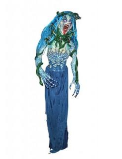 Medusa Halloween-Dekofigur blau-grün 190cm