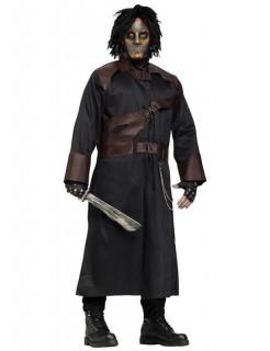 Psycho Mörder Halloween-Kostüm schwarz-braun