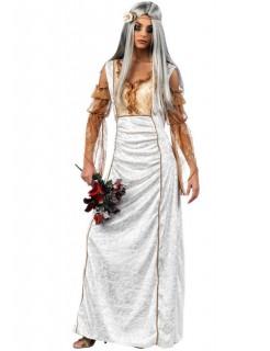 Gothic Braut Halloween Damenkostüm silber