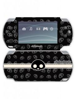 Skelanimals PSP-Stickers Totenschädel schwarz-weiss