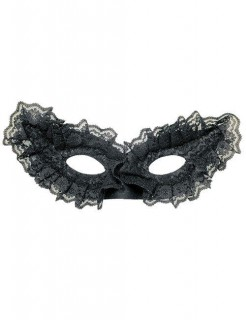 Venezianische Spitzen-Augenmaske Halloween-Accessoire schwarz