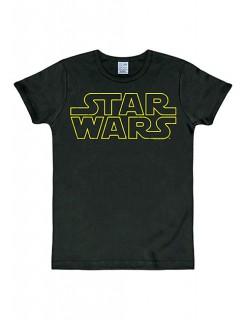 Star Wars™ Logo-T-Shirt Slimfit schwarz-gelb