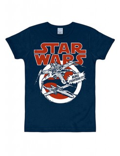 Star Wars X-Wings T-Shirt Slimfit blau-rot-weiss