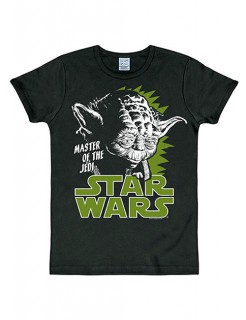 Star Wars Yoda T-Shirt Slimfit schwarz-weiss-grün