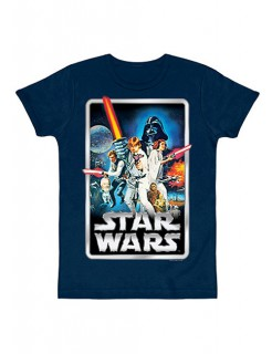 Star Wars Poster T-Shirt Slimfit bunt