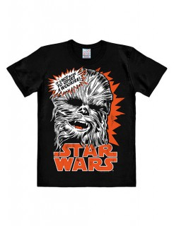 Star Wars Chewbacca T-Shirt Easyfit Lizenzware schwarz-weiss-orange