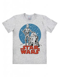 Star Wars T-Shirt Droids Easy Fit grau-blau-rot