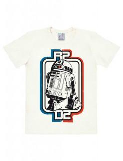 Star Wars R2-D2 Logo T-Shirt Easyfit Lizenzware weiss-blau-rot
