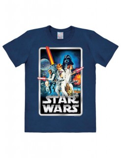 Star Wars T-Shirt Poster Easy Fit-Lizenzware blau-bunt