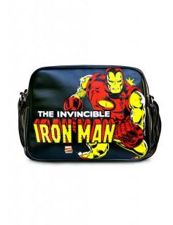 Iron Man™-Umhängetasche Marvel™ schwarz-rot-gelb 37x28x11cm