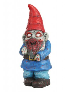 Zombie Gartenzwerg Halloween-Dekofigur bunt 28,5cm