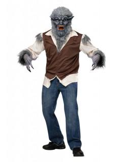 Werwolf Halloween-Kostüm grau-braun