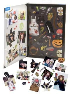 Foto Magnete-Set mit Halloween-Motiven 30-teilig bunt