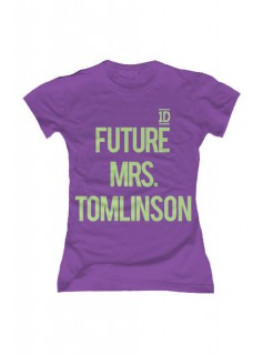 One Direction Future Mrs. Tomlinson Damen T-Shirt Slim Fit lila