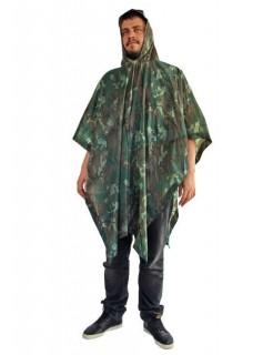 Vinyl Regen-Poncho Camping-Zubehör camouflage