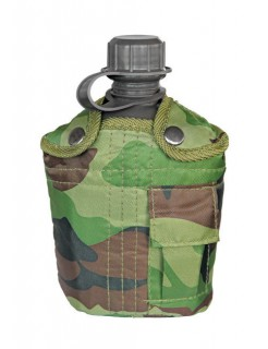 US Feldflasche Camping-Zubehör camouflage 1l