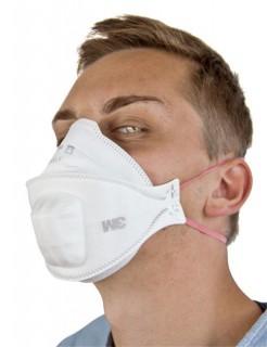 Atemschutzmaske Mundschutz AURA™ mit Spezialventil weiss